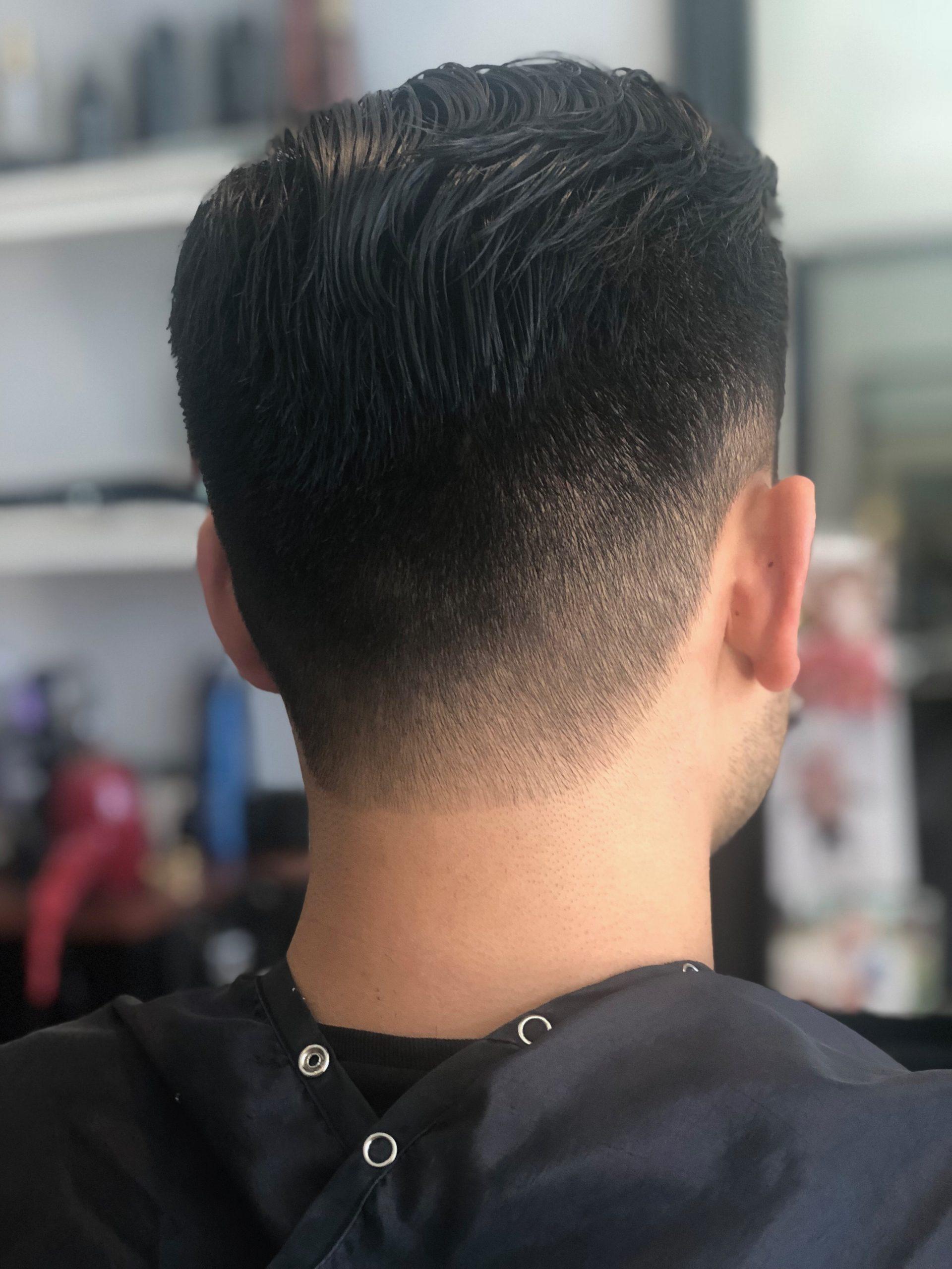 Young men's haircut